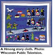 A Hmong story cloth. Photo: Wisconsin Public Television