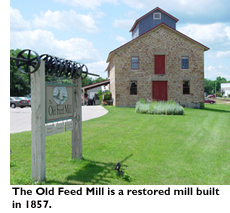 The Old Feed Mill is a restored mill built in 1857
