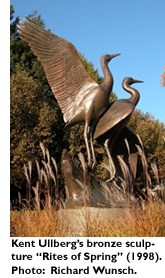 Kent Ullberg's bronze sculpture 'Rites of Spring' (1998). Photo: Richard Wunsch