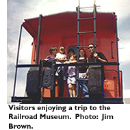 Visitors enjoying a trip to the Railroad Museum. Photo: Jim Brown.