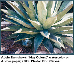 Adele Earnshaw's 'May Colors', watercolor on Arches paper, 2003. Photo: Don Carver