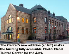 The Mabel Tainter Center for the Arts' new addition.