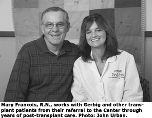 Ted Gerbig with Nurse Mary Francois