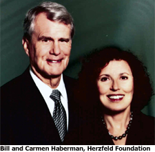 Bill and Carmen Haberman, Herzfeld Foundation