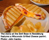 Wisconsin Grilled Cheese panini