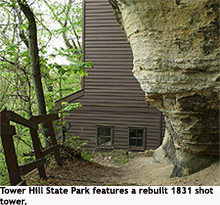 Shot tower at Tower Hill State Park