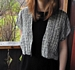 Black & White Loopy Wool and Linen Jacket