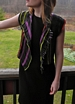 Stripes & Fringe Handwoven Vest