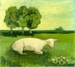Sheep with Three Trees