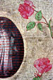 Red-work:  Pink Roses (detail)