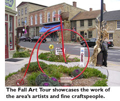 The Fall Art Tour showcases the work of the area's artists and fine craftspeople.