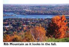 Rib Mountain as it looks in the fall.